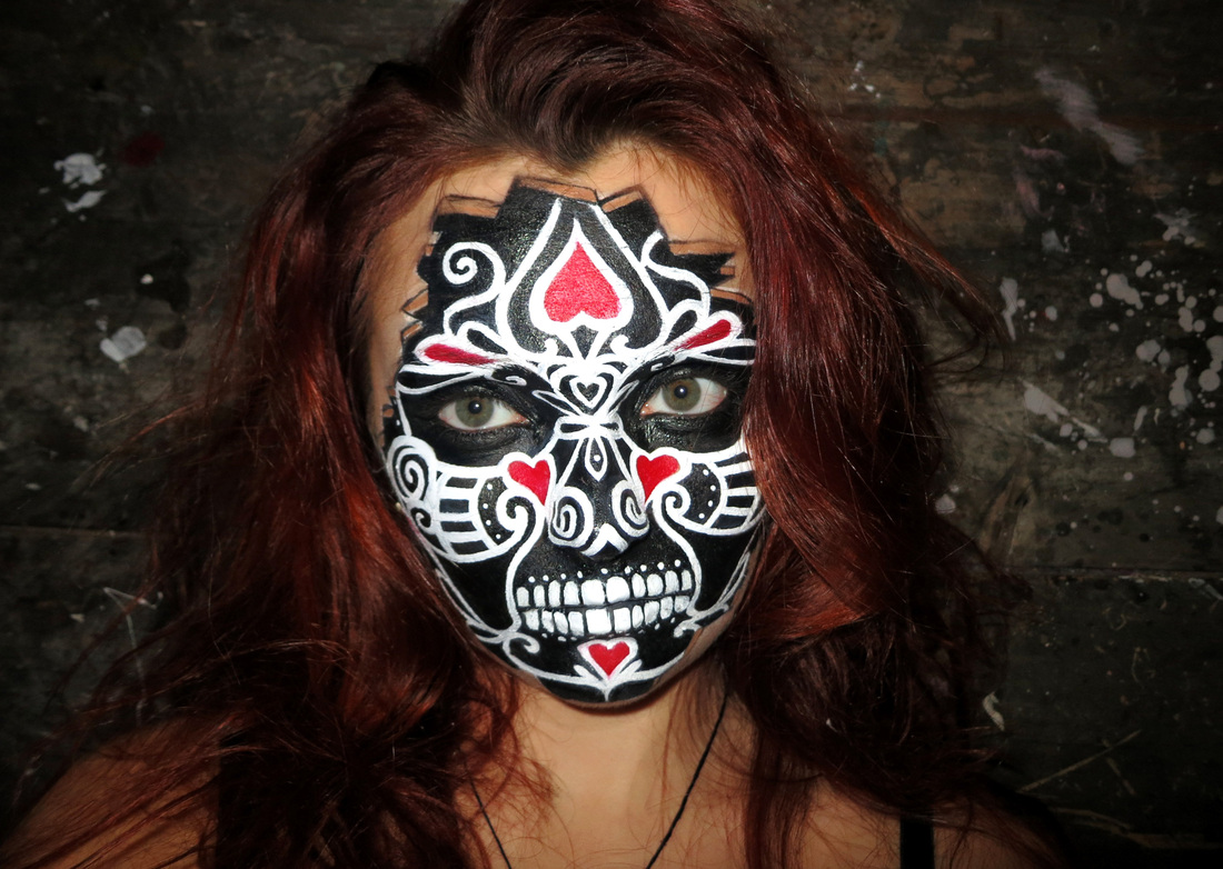 Elvis Schmoulianoff  Makeup  amp  Body Art  Vegan Makeup  amp  BodypaintingVoodoo Skull Face Paint