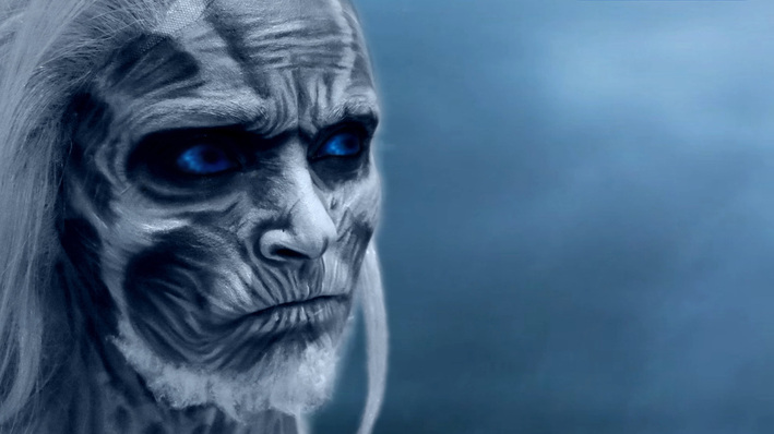 White Walker Makeup, White Walker Facepaint